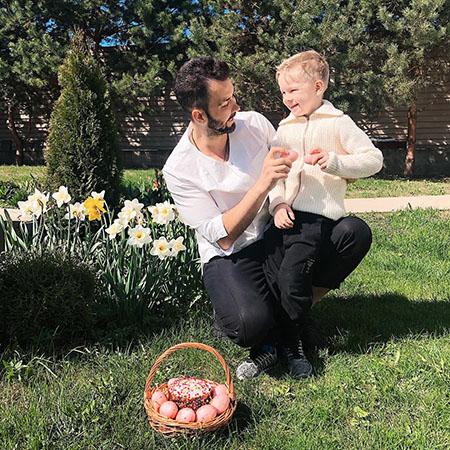 Денис Клявер с сыном