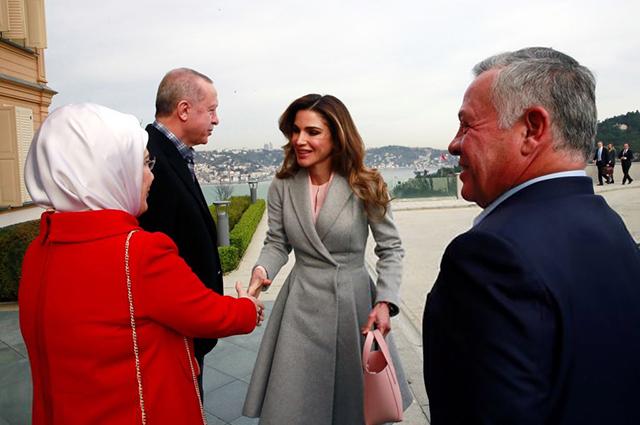 Эмине Эрдоган и Реджеп Тайип, королева Рания и король Абдалла II