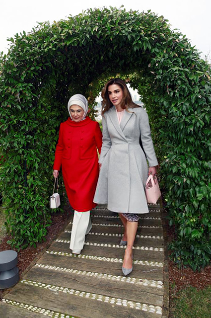 Эмине Эрдоган и королева Рания