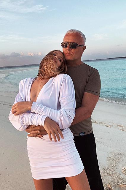 Елена Перминова и Александр Лебедев