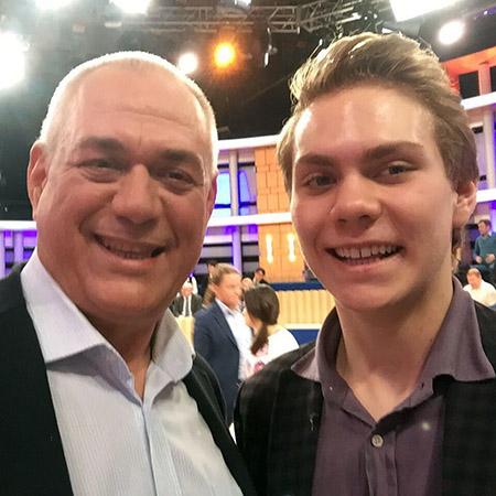 Сергей Доренко с сыном Прохором