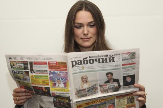 Джессика Альба, Кира Найтли и другие голливудские звезды снова рекламируют газету