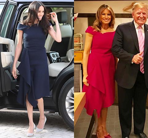 Битва платьев: Меган Маркл против Мелании Трамп