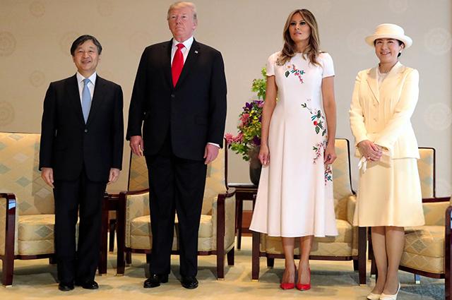 Император Нарухито, Дональд Трамп, Мелания Трамп, императрица Масако