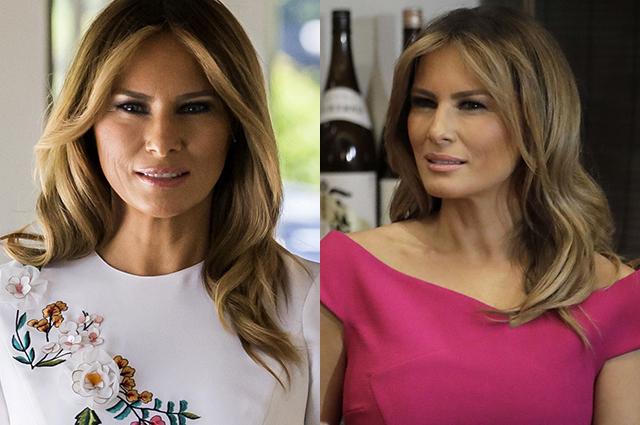 Вышивка и платье как у Меган Маркл: что носит Мелания Трамп в Японии