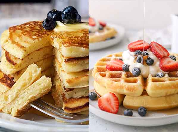 Угадайте, какой завтрак полезнее