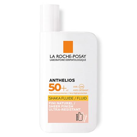 Солнцезащитное средство для лица и кожи вокруг глаз Anthelios shaka флюид spf 50+ тонирующая формула, La Roche-Posay
