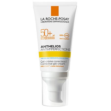 Солнцезащитный гель-крем для жирной, проблемной и склонной к акне кожи лица Anthelios SPF 50+, La Roche-Posay
