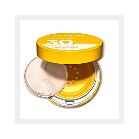 Cолнцезащитный флюид для лица с легким тоном SPF 30 Compact Solaire Minéral Visage, Clarins