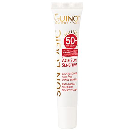 Антивозрастной солнцезащитный бальзам для чувствительных зон с очень высокой степенью защиты SPF 50+ Baume AGE SUN SENSITIVE, Guinot