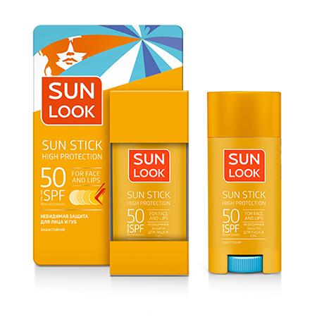 Стик для лица и губ солнцезащитный SPF-50, Sun Look