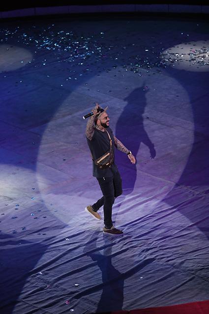 Валерия, Тимати, Дима Билан, Наташа Королева и Надежда Оболенцева на концерте в цирке