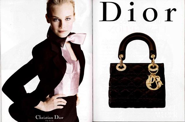 Диана Крюгер в рекламе Lady Dior