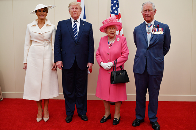 Мелания и Дональд Трамп, королева Елизавета II и принц Чарльз