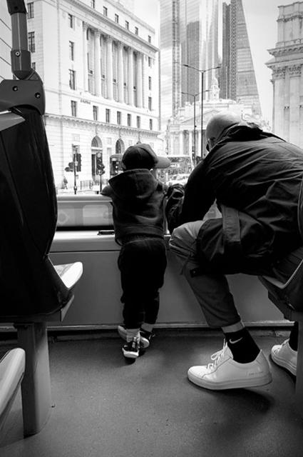 Джейсон Стэтхем с сыном Джеком