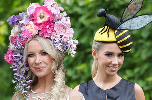 Шляпа-пчела, клумбы, перья и воланы: самые яркие образы с королевских скачек Royal Ascot 2019