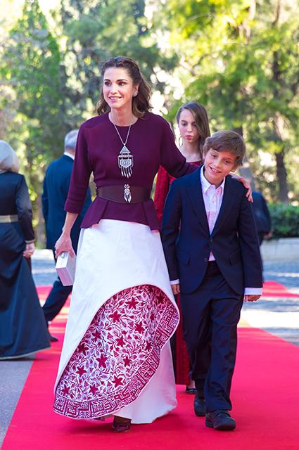 Королева Рания и принц Хашим