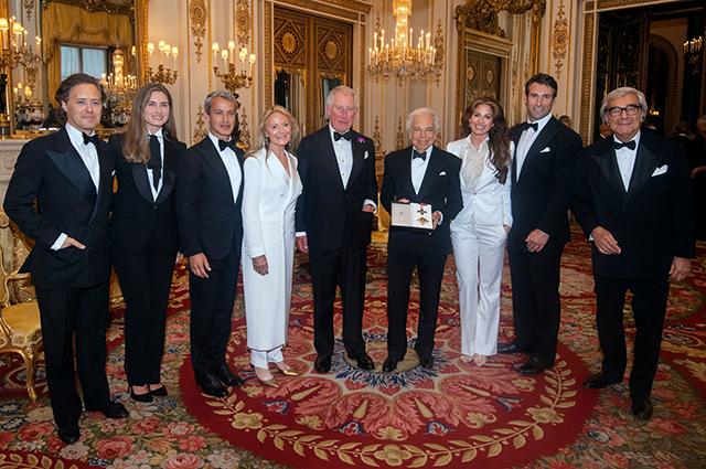 Принц Чарльз и Ральф Лорен с семьей