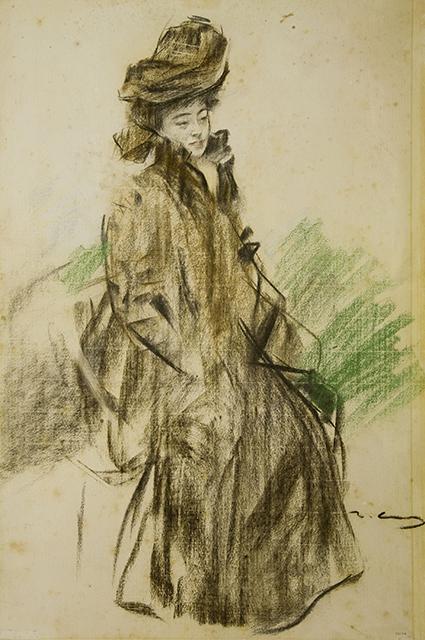 На рисунке Рамона Касаса, в европейском костюме