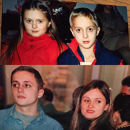 Анна Михалкова с братом Артемом