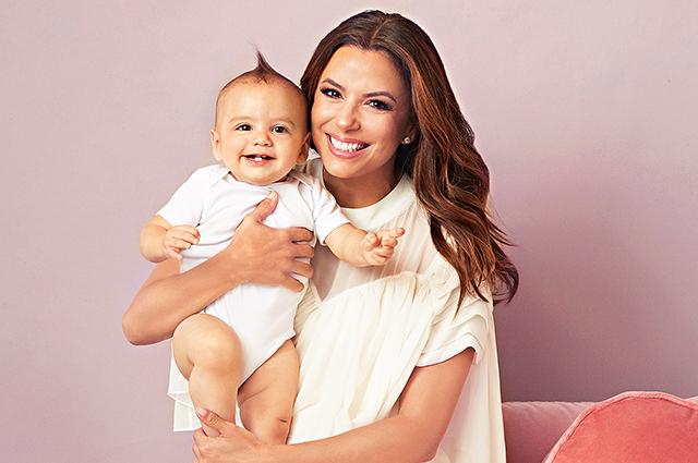 Ева Лонгория появилась на страницах журнала Parents с годовалым сыном Сантьяго