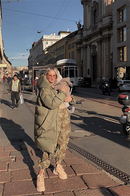 Ануки Арешидзе с сыном Николой