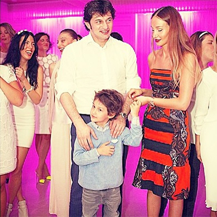 Каха Каладзе и Ануки Арешидзе с сыном Леваном