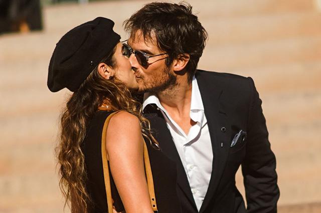 Парижская романтика: Никки Рид и Йен Сомерхолдер на Неделе высокой моды