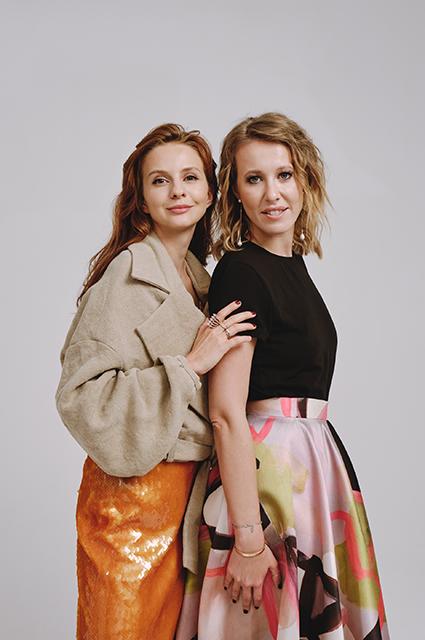 Юлия Прудько и Ксения Собчак