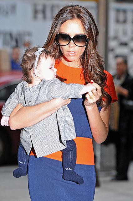 Виктория Бекхэм с дочерью Харпер