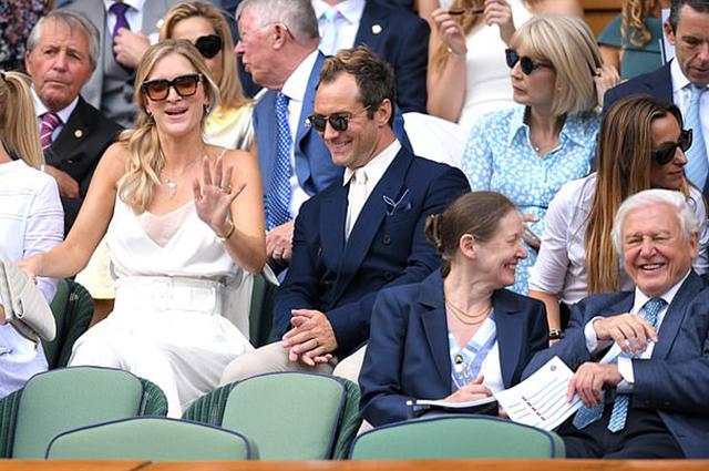 Джуд Лоу с женой Филиппой посетил полуфинал Уимблдонского турнира