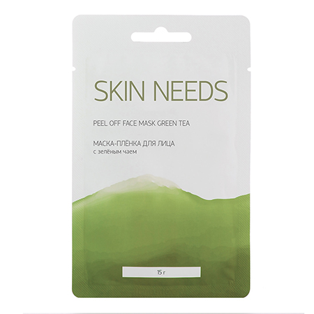 Маска-пленка для лица с зеленым чаем Skin Needs, Л'Этуаль