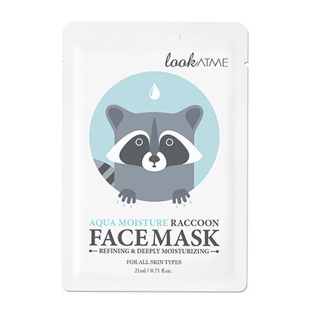 Маска для лица тканевая очищающая и интенсивно увлажняющая Raccoon, Look At Me