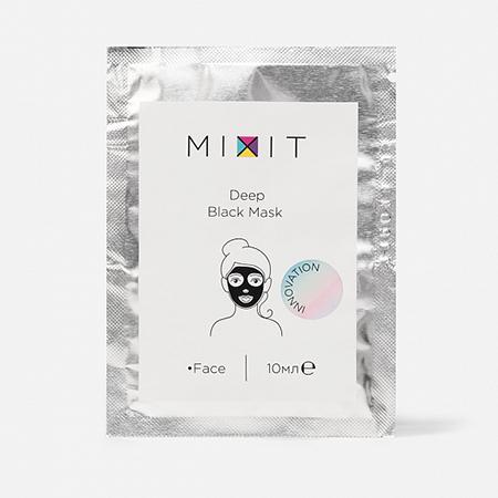 Угольная маска-пленка против черных точек Deep Black Mask, Mixit