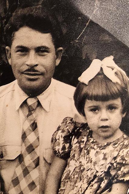 Любовь Успенская с отцом Залманом Сицкером