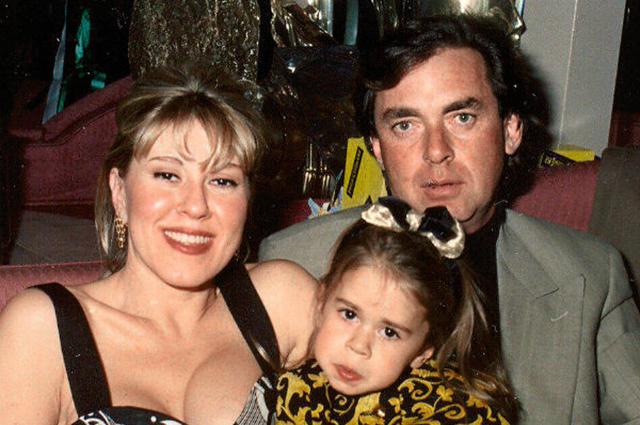 Любовь Успенская и Александр Плаксин с дочерью Таней
