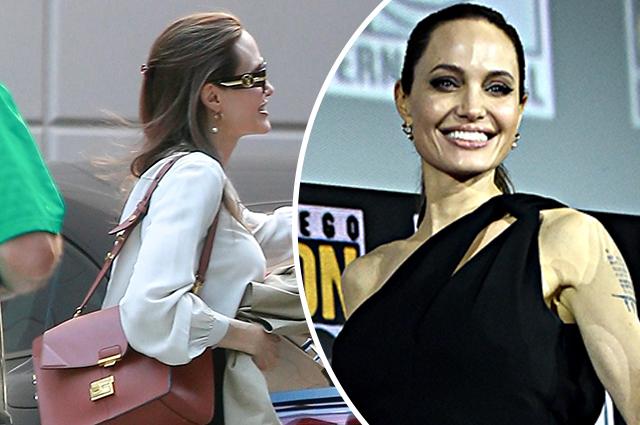 Анджелина Джоли замечена на деловой встрече в Лос-Анджелесе