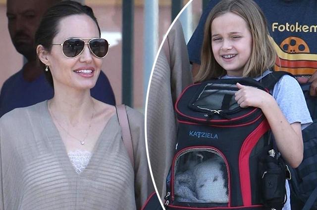 Анджелина Джоли сходила в зоомагазин с дочерью Вивьен и ее новым питомцем