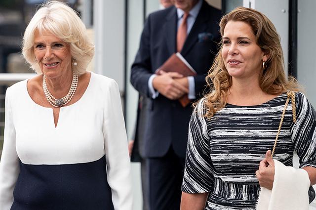 Герцогиня Камилла и принцесса Хайя