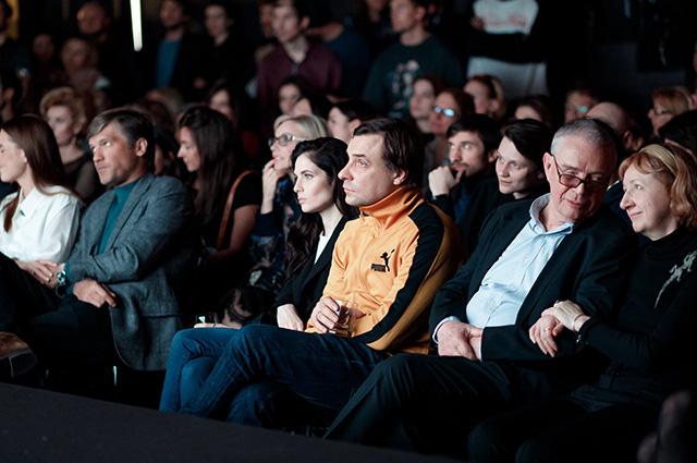 Юлия Снигирь и Евгений Цыганов на премьере