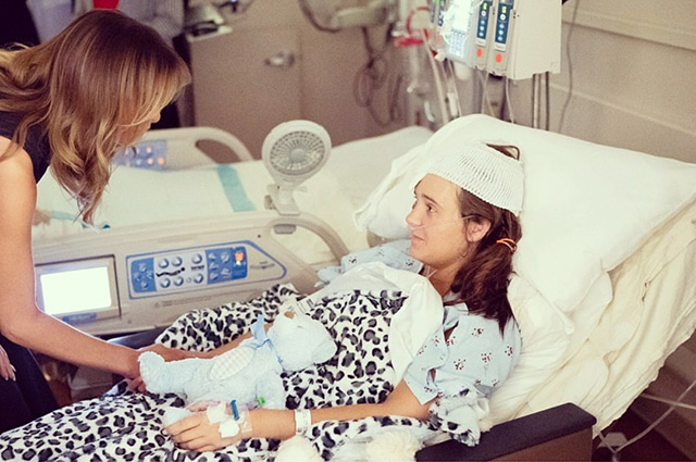Мелания Трамп в госпитале