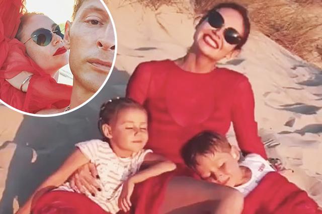 Ляйсан Утяшева и Павел Воля с детьми отдыхают у океана