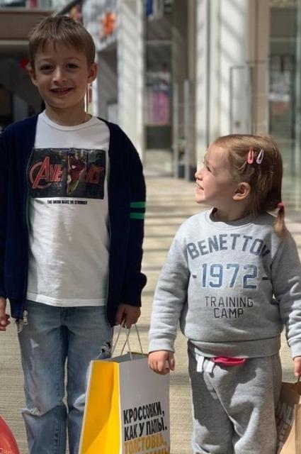 Сын и дочь Оксаны Акиньшиной