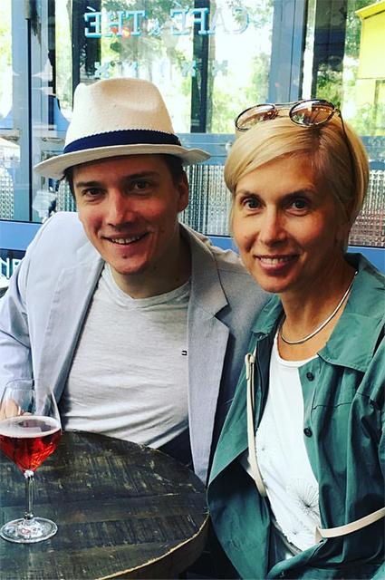 Алена Свиридова с сыном Василием