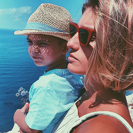 Нино Нинидзе с сыном