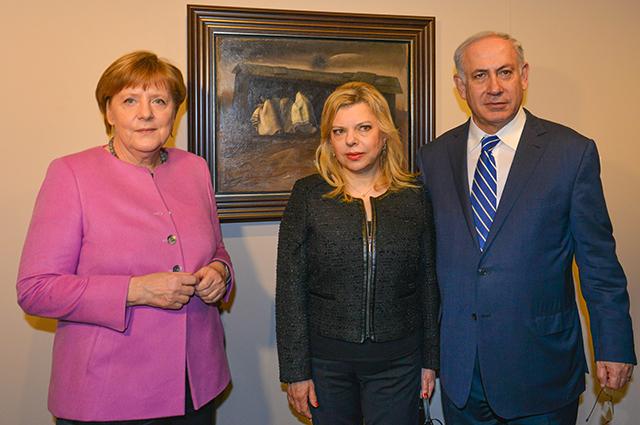 Ангела Меркель, Сара и Биньямин Нетаньяху