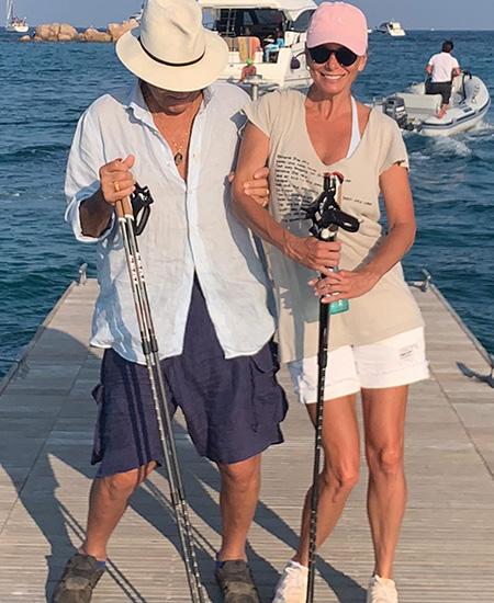Юлия Высоцкая с мужем Андреем Кончаловским