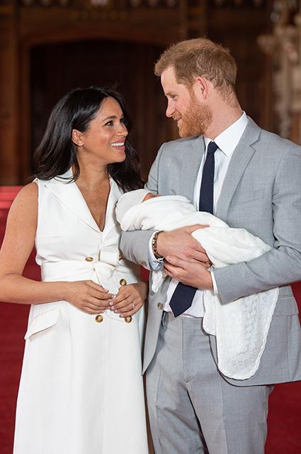 Меган Маркл, принц Гарри с сыном