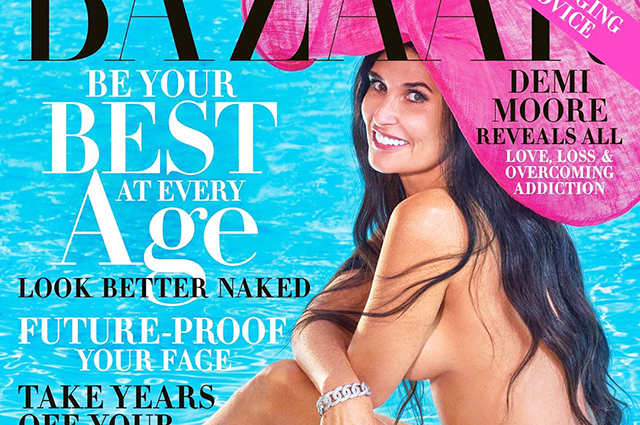 Деми Мур снялась обнаженной для Harper's Bazaar