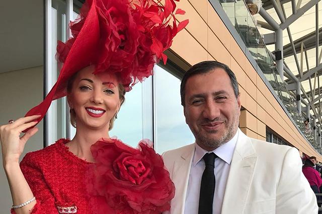 Наталья Ротенберг с возлюбленным на королевских скачках Royal Ascot
